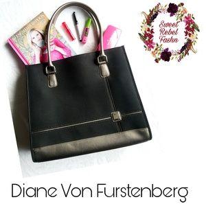 BOGO Sale! Diane Von Furstenberg Tote Purse black travel